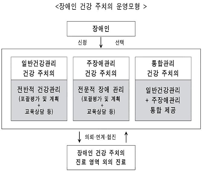 장애인주치의 건강관리모형 / 사진 = 배하석 교수 발표자료