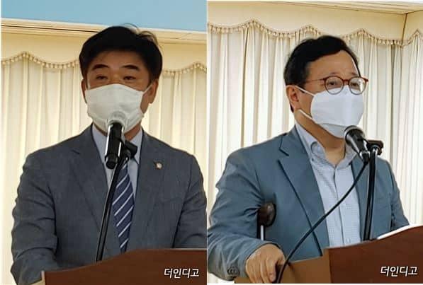 김병욱 의원(좌)과 김동호 위원장(우)/사진=더인디고