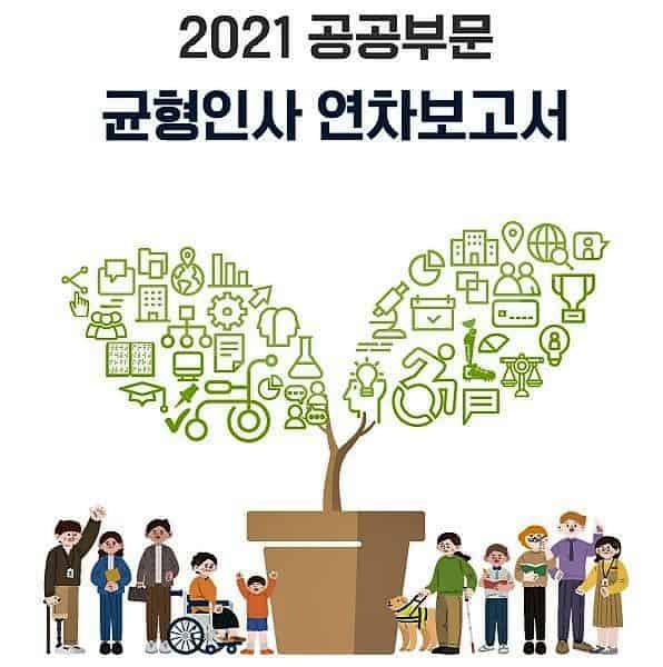 ▲ 2021 공공부문 균형인사 연차보고서. 자료=인사혁신처